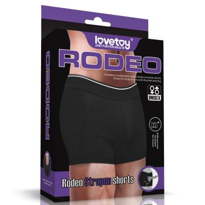 Черные шорты для крепления насадок Strapon Shorts