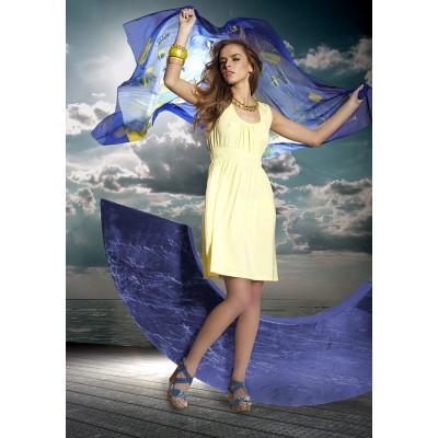 Короткое приталенное пляжное платье
