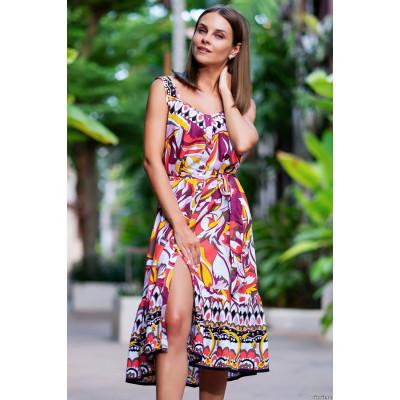 Летнее платье-сарафан на пуговицах