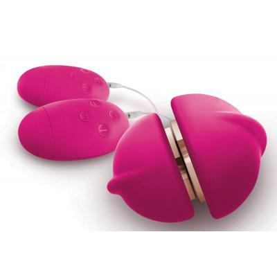 Ярко-розовый клиторальный стимулятор Union Girl/Girl Vibe